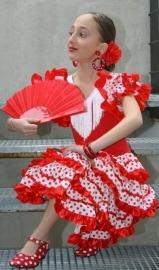 Spaanse schoenen rood wit