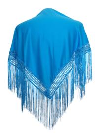 Spaanse manton/omslagdoek blauw SMALL