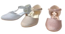 Spaanse schoenen Flores rosé goud glitter NIEUW