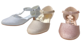 Spaanse schoenen Flores zilver glitter
