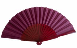 Spaanse flamenco waaier donker bruin rood GROOT, hout en stof