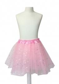 Balletrokje roze met sterren