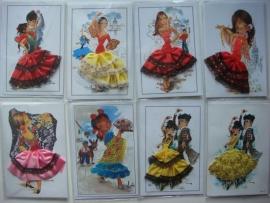 Spaanse flamenco kaart