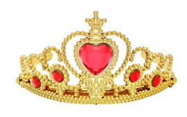 Prinsessen kroon goud rood