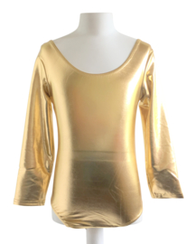 Balletpakje goud met lange mouw