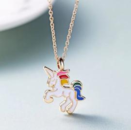 Eenhoorn unicorn ketting wit
