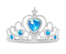 Prinsessen kroon blauw