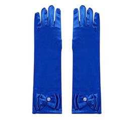 Handschoenen prinsessen blauw voor kinderen