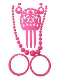 Spaanse haarkam set roze