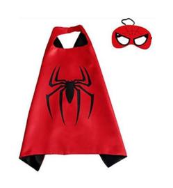 Spider spinnenheld cape + GRATIS tas/sleutelhanger