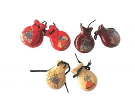 Spaanse castagnettes met opdruk, klein model