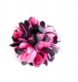 Flamenco hair flower pink black