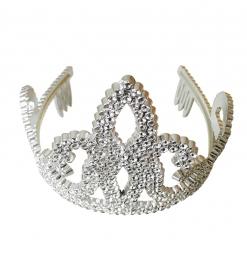 Tiara / Kroontje zilver