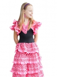 Flamenco headband pink black