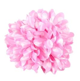 Haarbloem licht roze met witte stippen