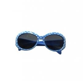 Spaanse zonnebril blauw met witte stippen