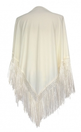 Flamenco shawl cream white