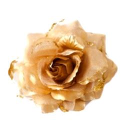 Spaanse haar roos (elastiek) goud