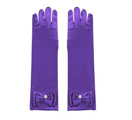 Handschoenen prinsessen paars voor kinderen