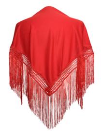 Spaanse manton/omslagdoek rood SMALL