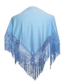 Spaanse manton/omslagdoek licht blauw SMALL
