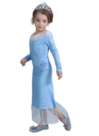 Frozen 2 Elsa jurk ijsster + GRATIS ketting