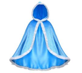 Frozen 2 Elsa cape prinsessen blauw + GRATIS kroon