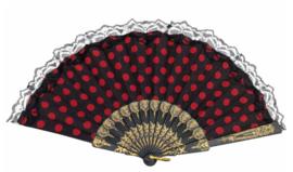 GRATIS waaier zwart rood - vanaf 75 euro - max 1 per klant