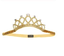 Prinsessen kroon goud met parel