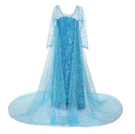 Elsa kleedje IJskoningin blauw Deluxe + GRATIS kroon