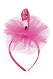 Haarband flamingo roze NIEUW