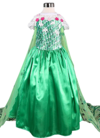 Elsa Frozen Fever Dress Princess costume green