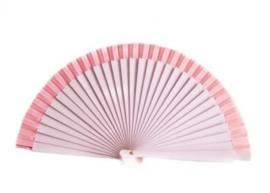 Spaanse flamenco waaier lichter roze (hout)