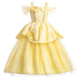 Prinsessenkleedje licht geel Luxe + GRATIS kroon