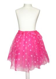 Ballet rokje roze kleine witte stippen