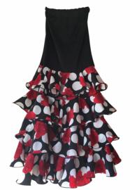 Flamenco rok dames met rozen en volantes Luxe