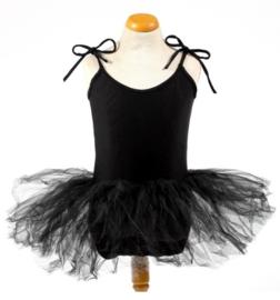 Balletpakje tutu met striklinten zwart
