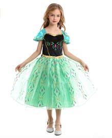 Anna Frozen Prinsessen jurk + GRATIS ketting