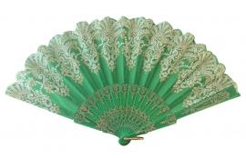 Spaanse flamenco waaier groen glitter