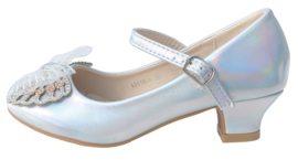 Spaanse schoenen vlinder zilver Glamour