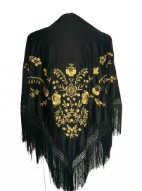 Foulard Chales Flamenco noir d 'or