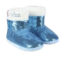 Disney Frozen 2 Elsa sloffen boots bont blauw