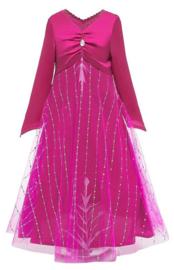 Frozen 2 Elsa jurk roze Deluxe + GRATIS ketting