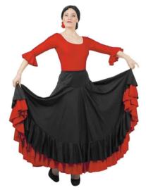 Jupe flamenco noir rouge