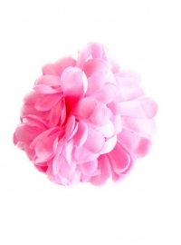 Flamenco hair flower light pink