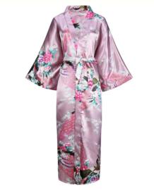 Chinese Kimono roze met opdruk dames