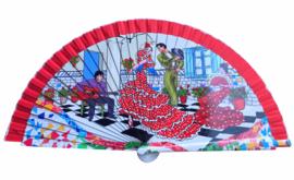 Spaanse waaier flamenco danseres hout 1