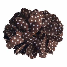 Haarbloem bruin met witte stippen