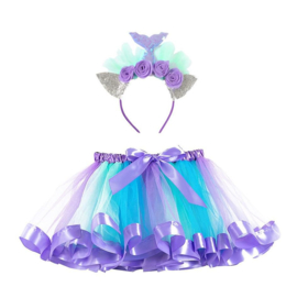 Zeemeerminnen kleedje tutu set + haarband