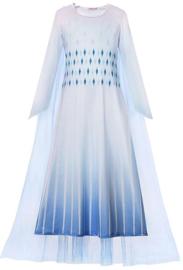 Frozen 2 Elsa jurk wit Sneeuw Koningin Basic + GRATIS kroon